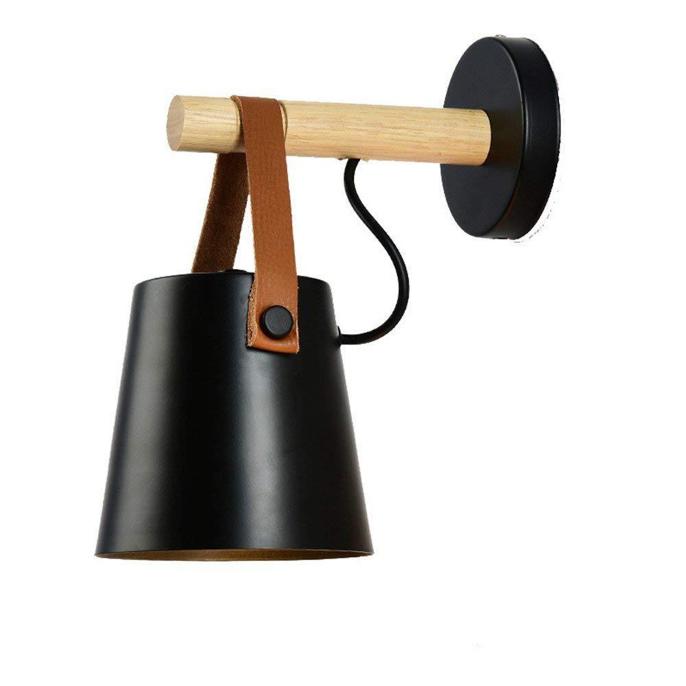 LXY Moderne Einfach Macaron Wandleuchte Creative Runde Metall Metall Wandlampe Wohnzimmer Schlafzimmer Restaurant Dekoration Licht,Lampenhalter E27  1,schwarz