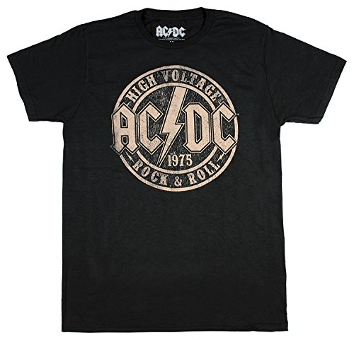 (ACDC Original High Voltage Concert Men's T-Shirt Rock n Roll Music)