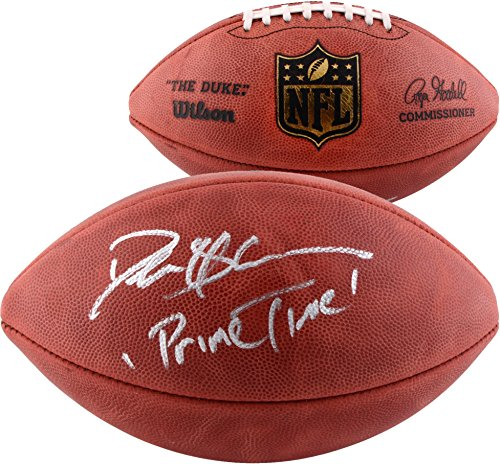 Deion Sanders Autographed Duke Pro NFL Football with Prime Time Inscription - Fanatics Authentic Certified