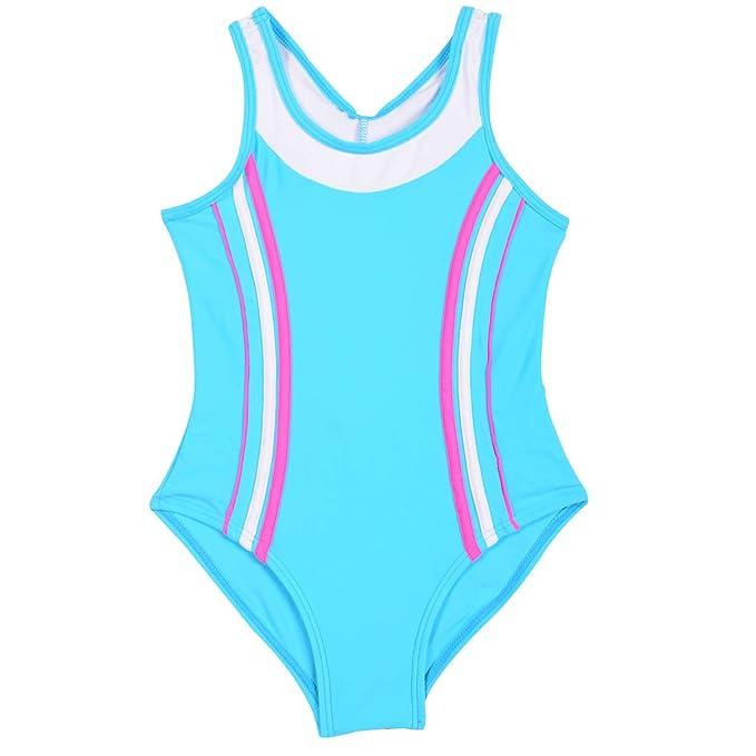 52fdd0212390 Happy cherry - Niñas Bañador de Una Pieza Deportivo Infantil Traje de Baño  para Natación Playa Surf Swimsuit para Deportes Acuáticos: Amazon.es: Ropa y  ...