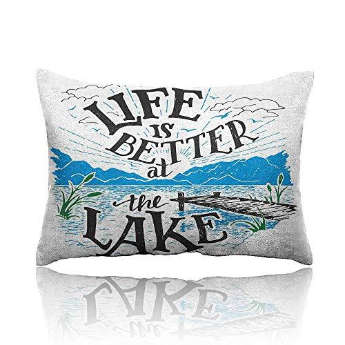 - Cabin Decor Queen Size Cool Pillowcase 16