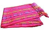 Del Mex Mexican Rebozo Shawl Blanket Doula (Regular (6 ft x 2.5 ft), Pink)