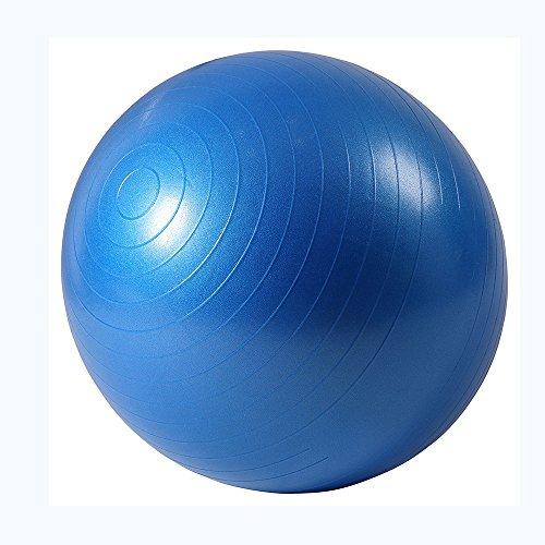 Ballon de gymnastique Anti-éclatement Ballon d'exercice 65cm Diamètre avec Pompe pour Yoga, Pilates Bleu ISE SY2001BL75