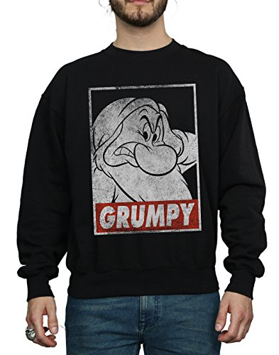 Homme Noir White Poster Dwarf shirt Snow Disney Sweat Grumpy vgdwzzx