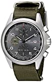 Glycine Unisex 3924-10AT-TB2'Combat' Stainless Steel Automatic Watch with Green Nylon Band