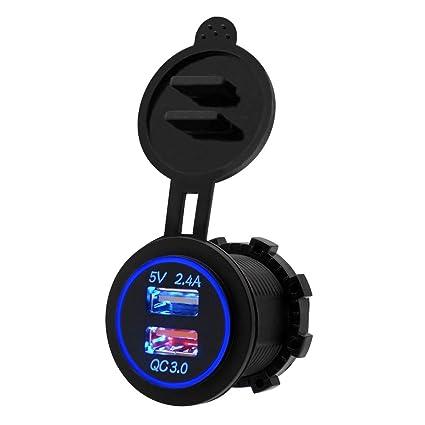 Alftek Universal Resistente al Agua Dual USB Auto Moto ...