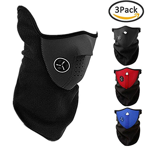 3PCS Ski Face Mask Winter Outdoor Windproof Anti Cold Sports