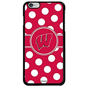 Coveroo Cell Phone Case for iPhone 6 Plus - Retail Packaging - Black/Wisconsin Designs