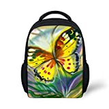 Hoijay Preschool Backpack, Little Kid Backpacks for Boys and Girls Paint Illinois Monarch Butterfly