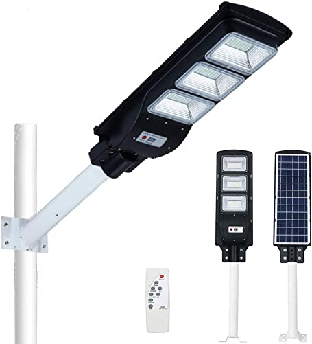 SZYOUMY Outdoor Solar Street Light,180LED Solar Light PIR Motion Sensor Remote Control Wall Lamp Solar Street Lights with Radar Sensor,Waterproof IP67 Dusk to Dawn Outdoor Street Area Road 90 watts