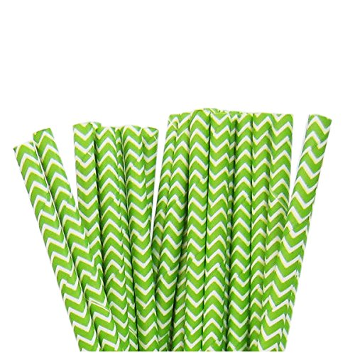 Lime Pattern Paper - SODIAL(R) 75 Pcs Paper Straws Birthday Wedding Baby Shower Party Wavy pattern(Lime green)