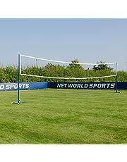 Vermont Postes de Voleibol/Bádminton de Acero – Postes Multideportivos Autónomos o Fijos (Redes Opcionales)
