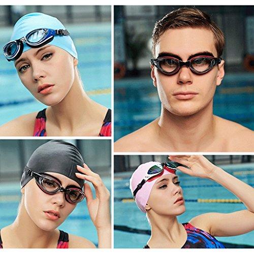 Femme Lunettes pour Lunettes ZHJING HD Anti Adultes natation Transparent Black buée de Black Couleur gqqpWEH