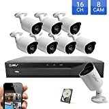 Best Vision Systems Security Camera System 16 Channel DVR with 1TB HDD + (8) 1MP CVI Indoor/Outdoor Bullet Cameras with Night Vision, Easy DIY Installation, Smartphone/PC Realtime Surveillance