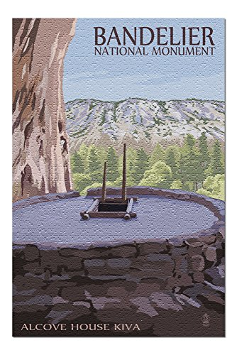 Bandelier National Monument, New Mexico - Alcove House Kiva (20x30 Premium 1000 Piece Jigsaw Puzzle, Made in USA!) ()