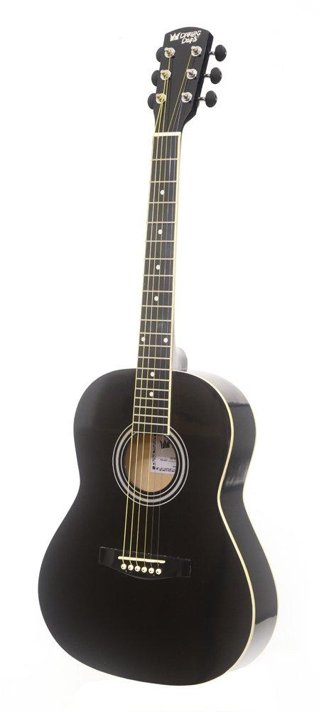 Darling Diva DDPKG02BK Acoustic Guitar, Black Voodoo
