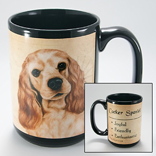 Dog Breeds (A-K) Cocker Spaniel 15-oz Coffee Mug Bundle with Non-Negotiable K-Nine (Cocker Spaniel Mug)