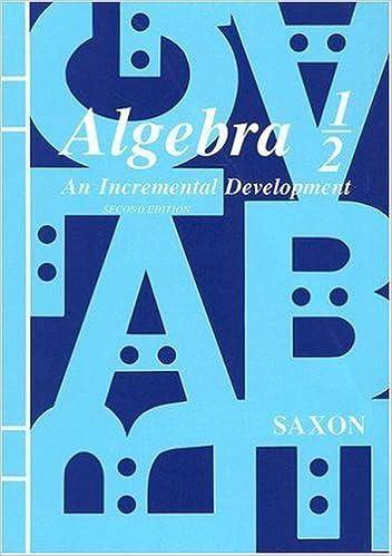 Algebra 1/2: An Incremental Development, Second Edition: SAXON ...