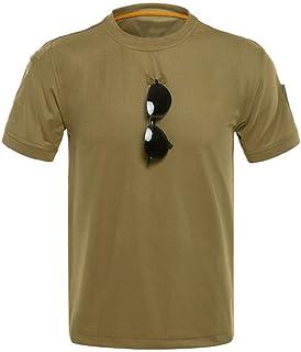 Karinao Herren Sommer T-Shirt Rundhals-Ausschnitt Slim Fit Baumwolle-Anteil Moderner Männer T-Shirt Crew Neck Hoodie-Sweatshirt Kurzarm(2XL,Braun)