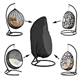 Kasla Waterproof Cover for Patio Hanging Egg Swing Chair, Windproof Heavy Duty Garden Furniture Protector - 75'H x 45'D