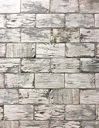 Rustic White Brick Look 4x8 Porcelain Tile Wall Floor Kitchen (Box of 34) ()