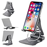 IUNIQEE 3 in 1 Adjustable Nintendo Switch Stand,Tablet Stand Holders, Cell Phone Stands,Mini Stands and Holders for Desk (4-13 inch)-Grey