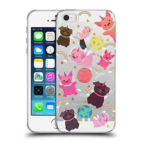 - Head Case Designs Pig Space Unicorns Soft Gel Case for iPhone 5 iPhone 5s iPhone SE