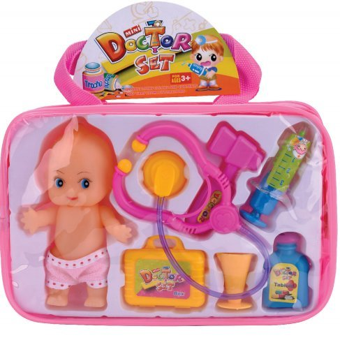Doctor Nurse Medical Kit Playset With cute doll Medical bag - Pretend Play Tools Toy