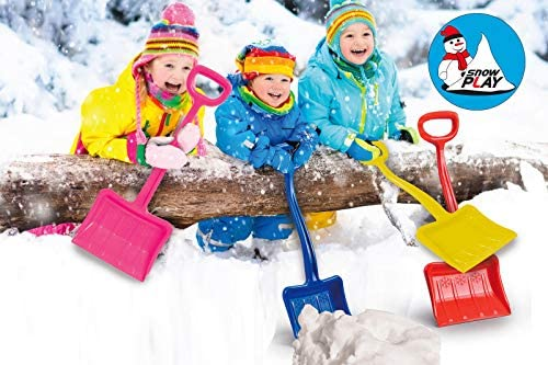 Blue Jamara 460400 460400-Snow Play Snow Shovel Tally 70 cm Robust and Stable Reinforcing Ribs in The Blade Plastic Handy D-Handle