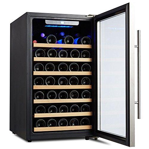 50 Bottle Stainless Steel Wine Cooler Kalamera Glass Door