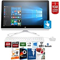 HP 24-g020 AMD Quad-Core A8-7410 1TB 7200RPM 23.8 All-in-One PC (V8P00AA#ABA) + Elite Suite 17 Standard Software Bundle (Corel WordPerfect, PC Mover,PDF Fusion,X9) + 1 Year Extended Warranty