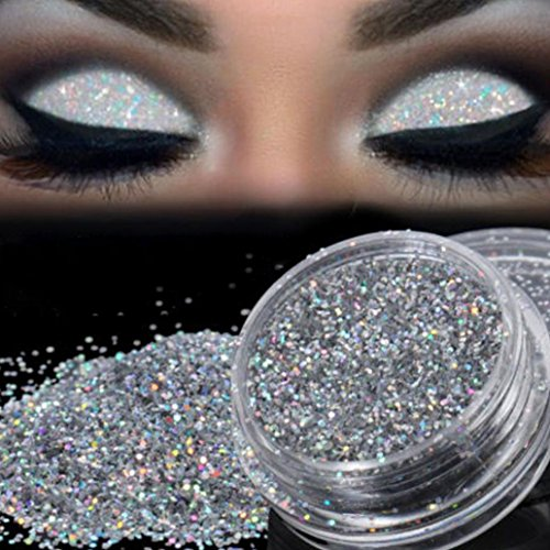 Sparkly Glitter Eyeshadow XUANOU Silver Eye Shadow Pigment L