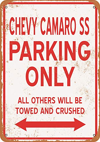Wall-Color 7 x 10 Metal Sign - Chevy Camaro SS Parking ONLY - Vintage - 7 Camaro