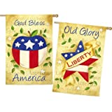 America the Beautiful 2-Sided Vertical Flag For Sale