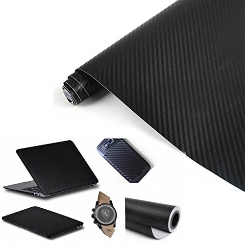 1 Sheet Exciting Modern 3D Carbon Fiber Car Sticker Labtop Wrap Auto Film Protector Cover Size 12