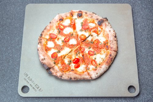 """514H%2BsYEnIL - NerdChef Steel Stone - High-Performance Baking Surface for Pizza .50"""" Thick - Ultimate"""