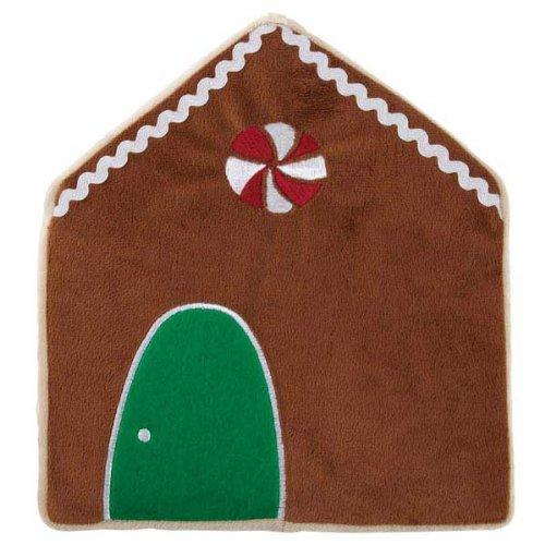 Grriggles Holiday Crinkler Gingerbread House Pet Toy