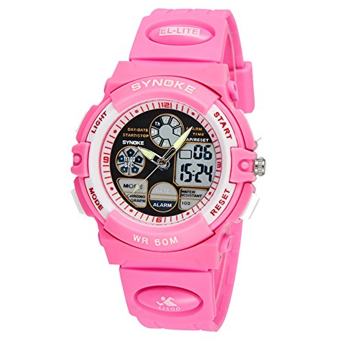 Yavinet Sport Kids Analog Digital Wrist Watch for Girls Chronograph by Yavinet