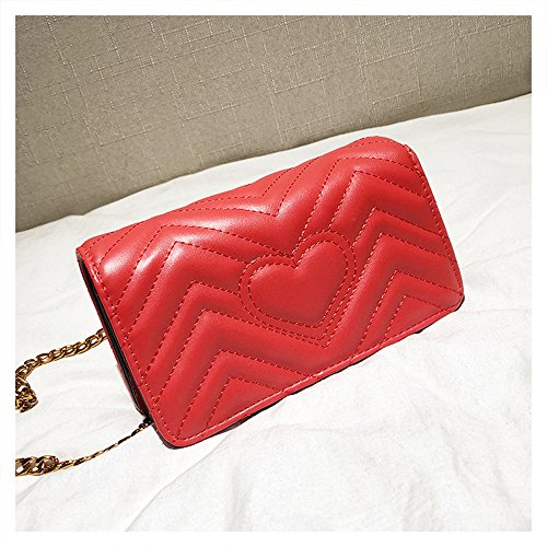 Bag cgletter Leather CG Summer Buckle Messenger Mama Handbags Baby Bag Mini Diaper Bag Shoulder Bee 2018 SHRJJ Quilted Fashion Red Chain Bag w6xqXn11vC