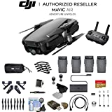 Onyx Black DJI Mavic Air (CP.PT.00000130.01) Quadcopter Drone 4 Battery Bundle
