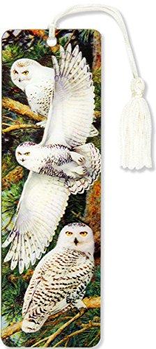 Snowy Owl 3-D Bookmark (Lenticular Bookmark) - Snowy Owls