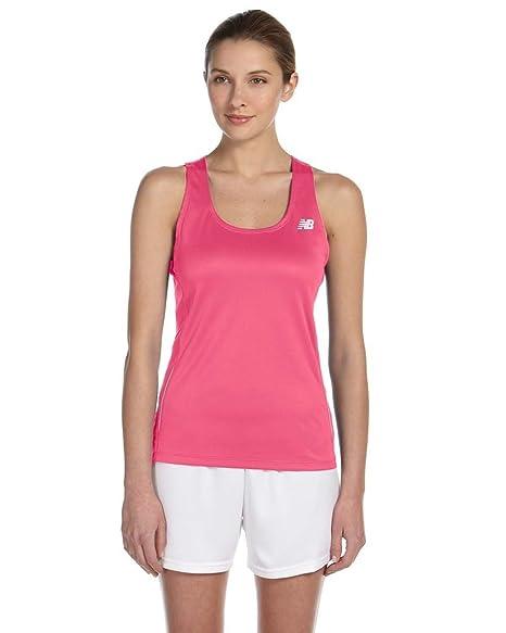3db673c1fce828 Amazon.com  New Balance Womens  Tempo Running Singlet (Safety Pink ...