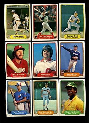 Amazoncom 1982 Fleer Baseball Complete Set 660 Cards Cal Ripken Jr