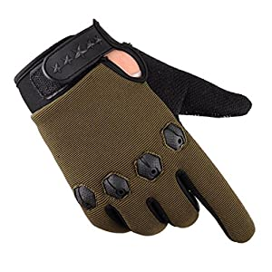 Men's Gloves Driving Winter, Lowprofile Men Fashion Warm Cashmere Male Thermal Camouflage Motorcycle Riding Gloves Hunting (Green)
