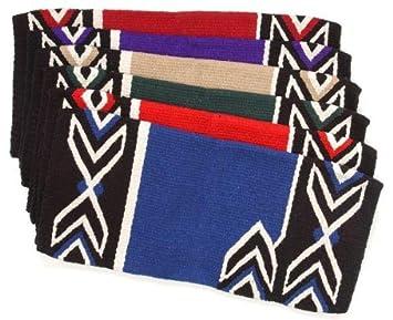 Tough 1 Tomahawk Double Weave Saddle Blanket Dark Purple/Black/Cream JT International Inc. 35-8890-391-0
