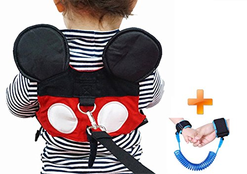 Baby Walking Safety Belt Is Suitable For Boys Or Girls Aged (1-3 years) At The Zoo, Disneyland Or Shopping Center. (Red baby) by Feixiao Technology Co., Ltd