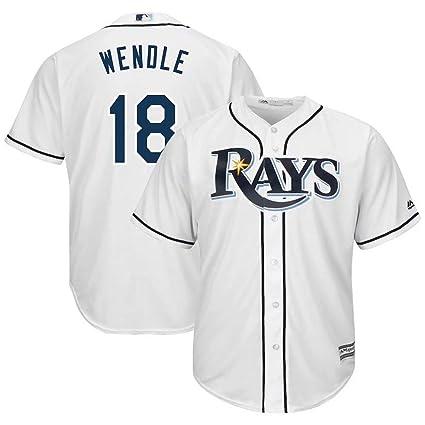 huge discount fd655 d7700 Amazon.com : '47 Baseball Jersey Tampa Bay Rays #18 Wendle ...