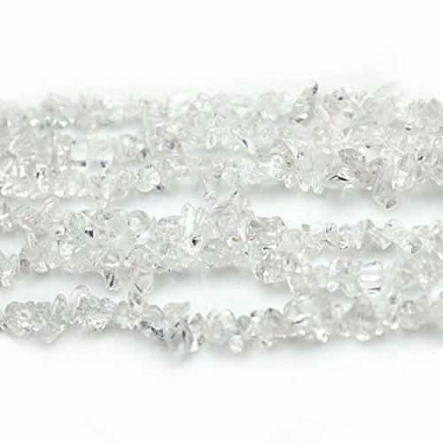(Natural Clear Crystal Quartz Irregular Chips Beads for Fashion Necklace Bracelet Earrings Jewelry Gift Decoration Making Supply One Strand 31 Inch)