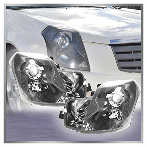Headlights Headlamps Left & Right Pair Set for 03-07 Cadillac CTS
