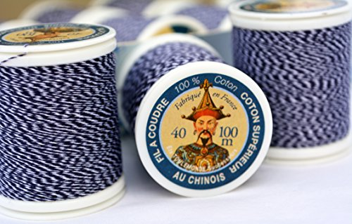 (2 pack Fil Au Chinois #725 Denim Thread - 2 x 100m spool (200m total) - MADE IN FRANCE)
